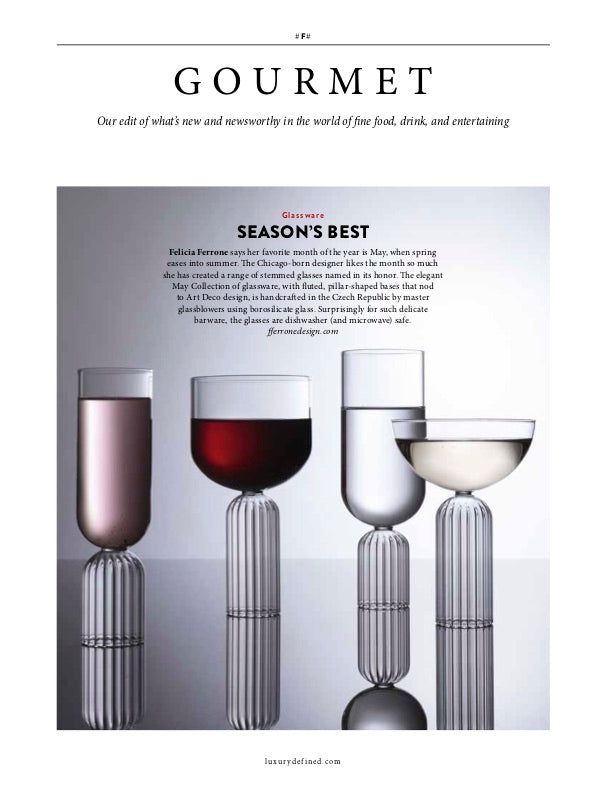 May Wine Glasses in Christie's - luxury Gourmet
