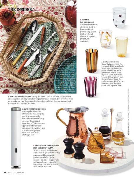 Boyd Decanter in House Beautiful magazine