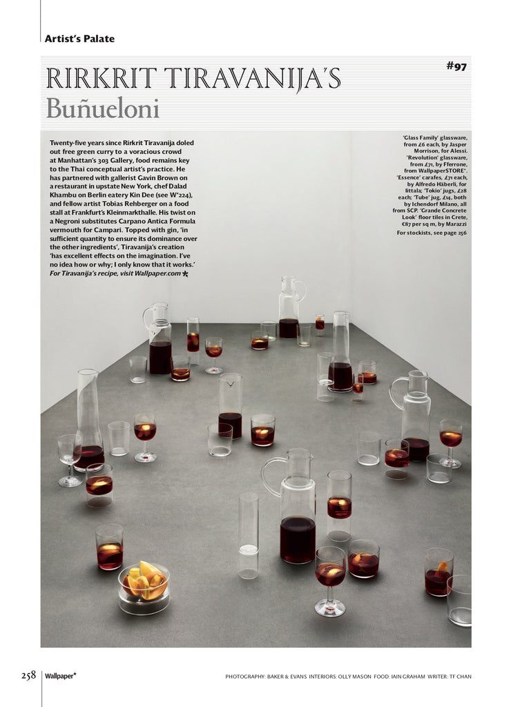 Rare Whiskey Glasses and Revolution Glasses in Wallpaper* Nov 2018