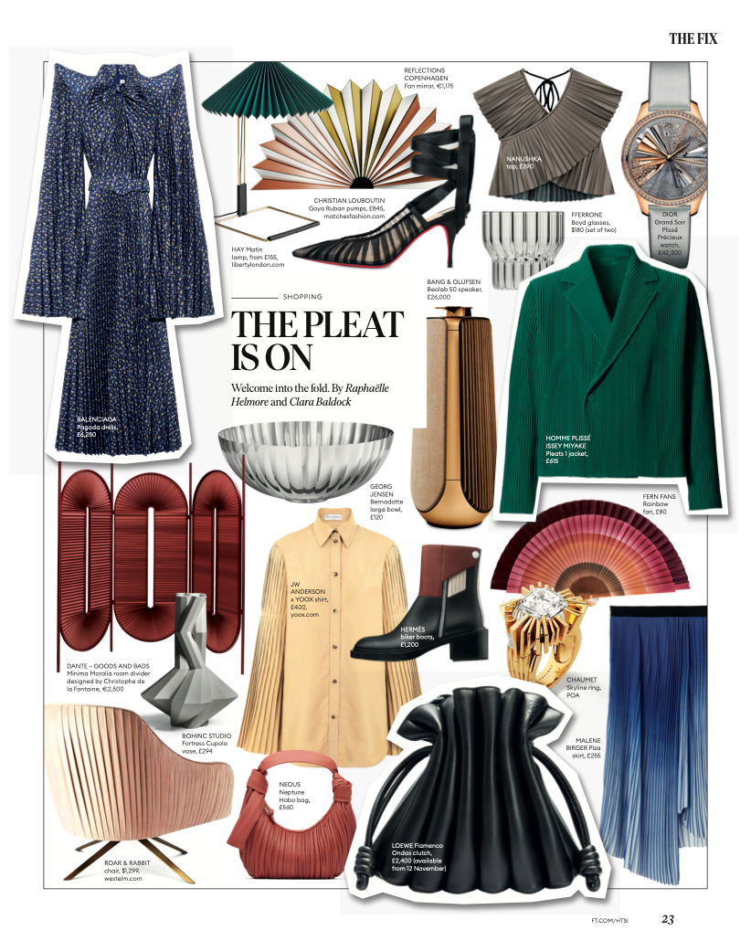 How to Spend It - Pleats