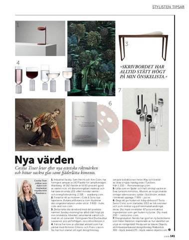 May Glasses Collection in Residence magazie