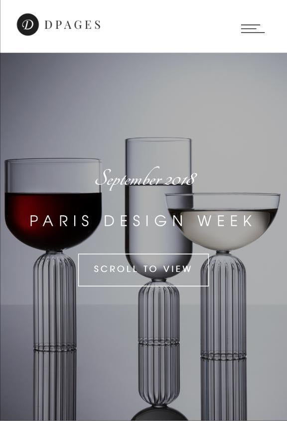 Paris Design Week - fferrone designer glasses - May Collection