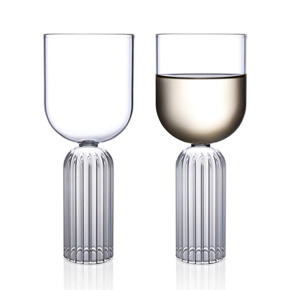 Designer White Wine Glasses - May Collection fferrone