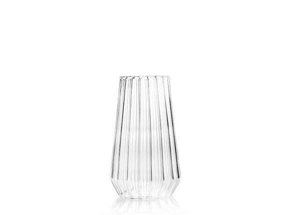 Large fluted glass vase - unique design fferrone