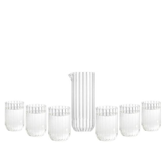 Dearborn carafe and glass set fferrone design europe