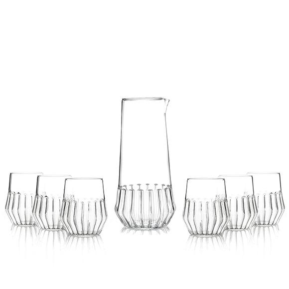 Mixed Carafe and Small Glass Set