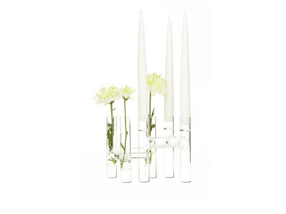 Trio Candelabra / Bud Vase - Set of 2