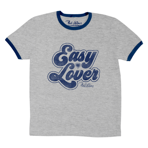 Easy Lover - Heather Grey/Navy Ringer Tee