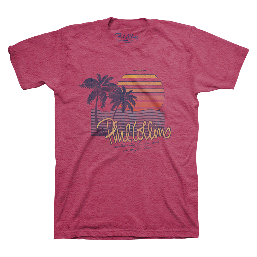 Paradise - Melange Heather Raspberry Men's Tee