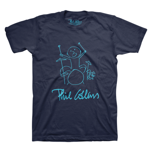 Drummer Boy Logo - Navy Men's Tee