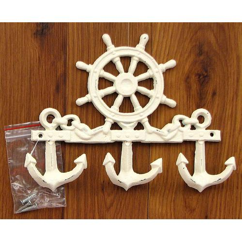 Cast Iron Ships Wheel Wall Hook