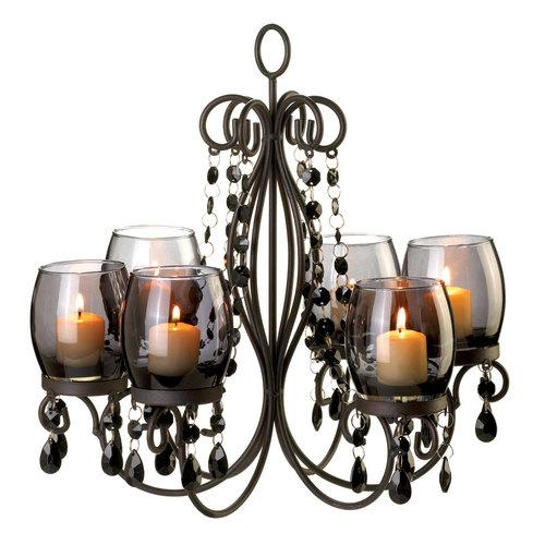 Midnight Elegance Candle Chandelier