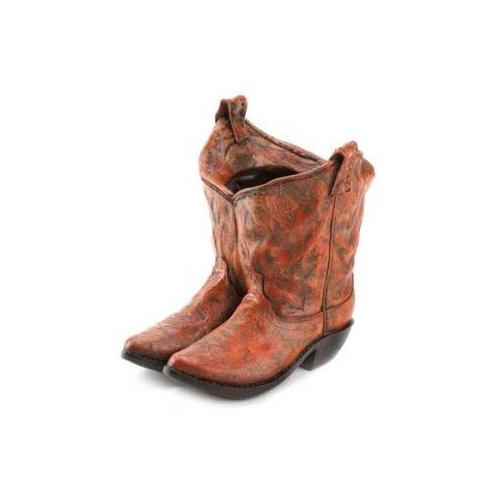 Old West Cowboy Boots Garden Planter (pack of 1 EA)