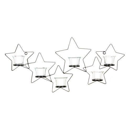 Beautiful Iron Cutout Star Wall Sconce (pack of 1 EA)