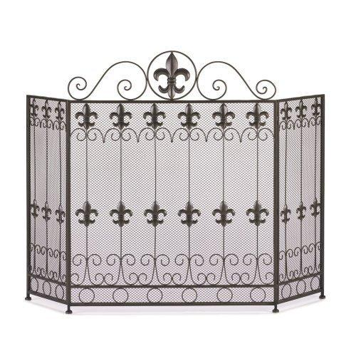 Fleur De Lis Fire Place Screen (pack of 1 EA)