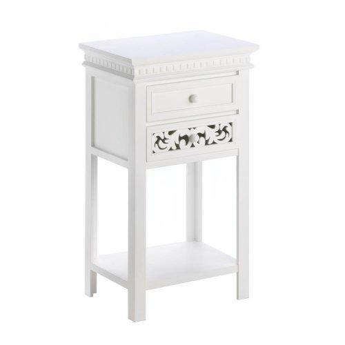 Fleur De Lis Double Drawer Side Table (pack of 1 EA)