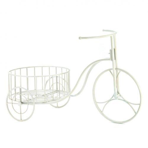 White Metal Tricycle Planter (pack of 1 EA)