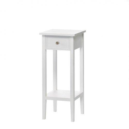 Classic White Side Table With Drawer (pack of 1 EA)