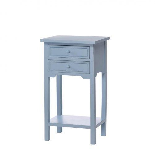 Two Drawer Wood Side Table (pack of 1 EA)