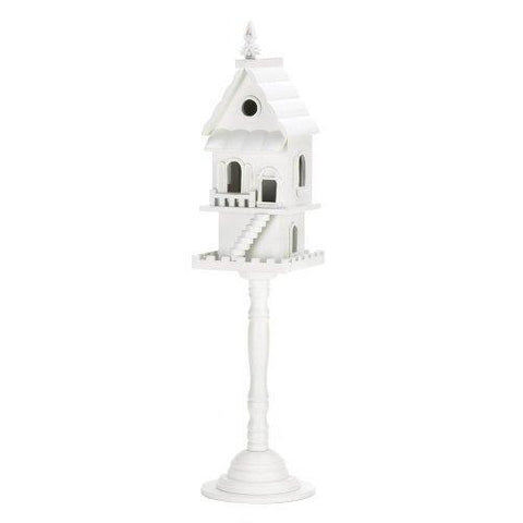 Two Story Standing White Birdhouse (pack of 1 EA)