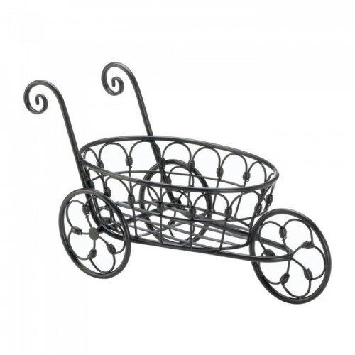 Black Iron Flower Cart (pack of 1 EA)