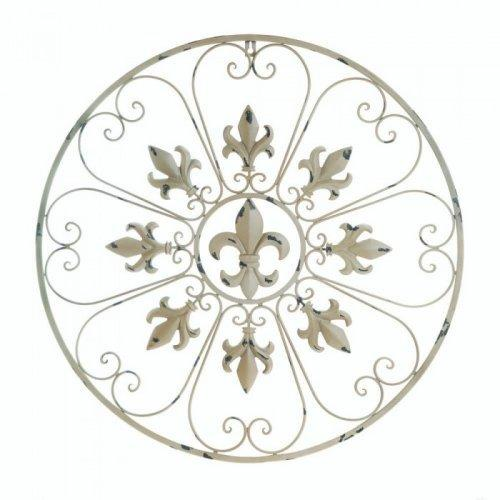 Circular Fleur De Lis Wall Decor (pack of 1 EA)