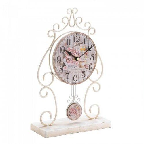 Country Rose Tabletop Clock (pack of 1 EA)