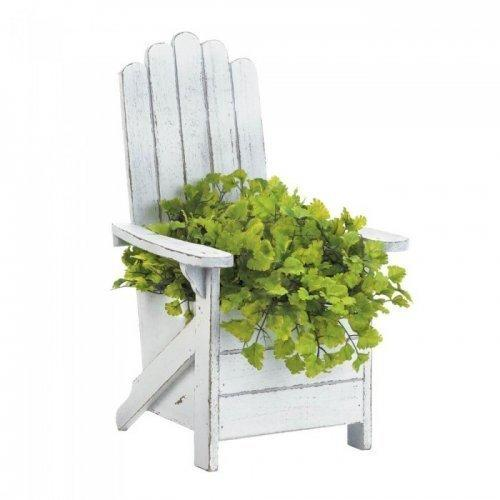 White Adirondack Chair Planter (pack of 1 EA)