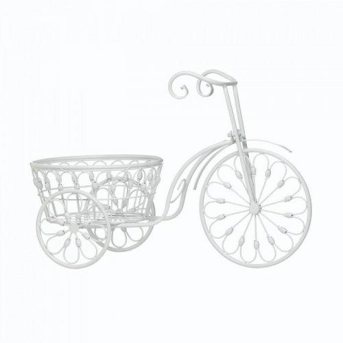 White Bicycle Planter (pack of 1 EA)