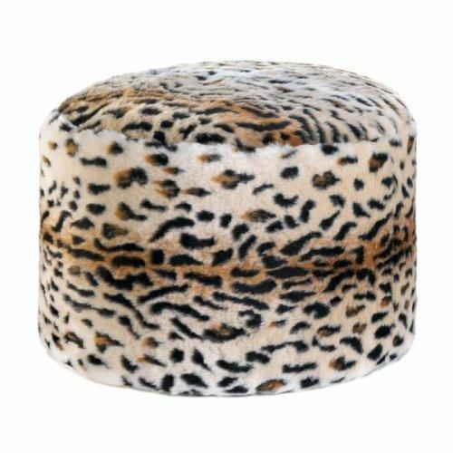 Snow Leopard Fuzzy Pouf (pack of 1 EA)