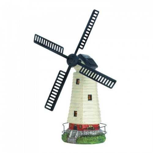 Solar Powered Windmill Lighthouse (pack of 1 EA)