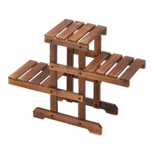 Zigzag Pallet Plant Stand (pack of 1 EA)