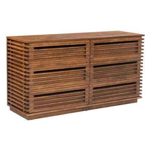 Double Dresser - Rubber Wood Veneer Mdf