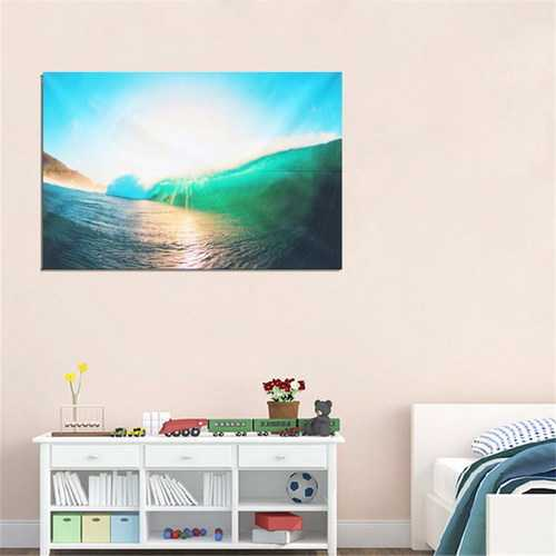 60x90CM Sunshine and Sea Natural Scenery Art Picture Silk Poster Fabric Print Wall Decor