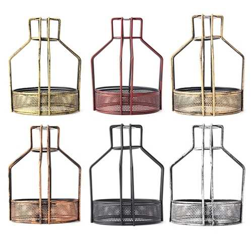 Iron Vintage Ceiling Light Fitting Lamp Bulb Net Bottom Shape Cage Bar Cafe Lampshade