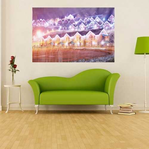 City Christmas Eve Frameless Painting Living Room Bedroom Wall Painting Home Decor