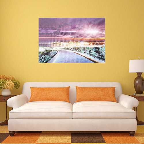 Vision City Christmas Eve Frameless Canvas Painting Living Room Bedroom Wall Painting Home Decor