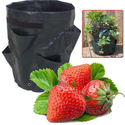 Garden 8 Pockets Strawberry Planter Yard Balcony Vegetable Fruit Herbs Planting Growing Bag