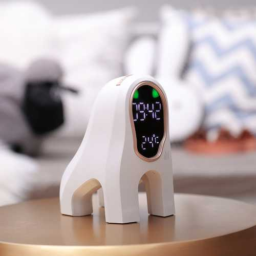 Loskii MSK-101 Intelligent Music Alarm Clock Led Digital Clock Wake-up Lamp Multi-Function Electronic Mute Small Alarm Clock Temperature Clock