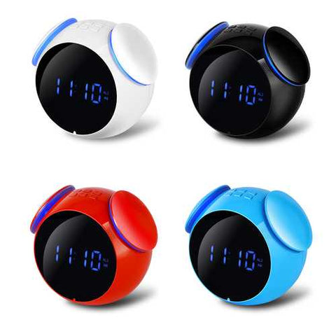 Loskii HC-202 Rechargeable Bluetooth Speaker Bass Mirror Snooze Function Alarm Clock Support AUX TF Card