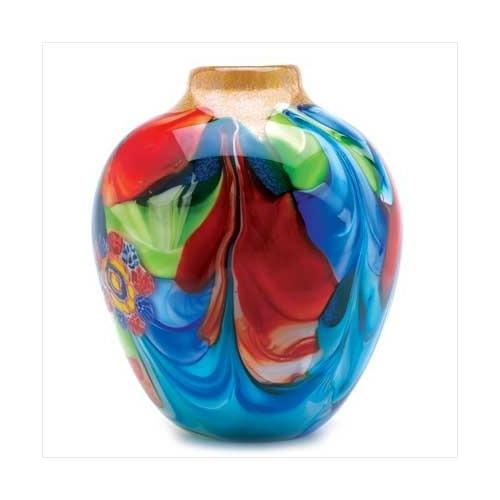 Floral Fantasia Art Glass Vase (pack of 1 EA)