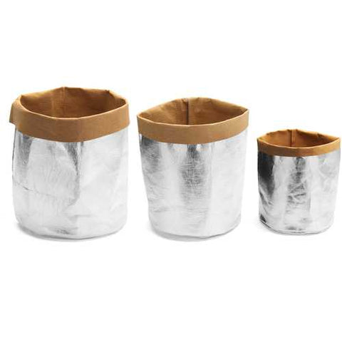 Gardening Washable Kraft Paper Bag Plant Flower Pot Multifunction Home Storage Container