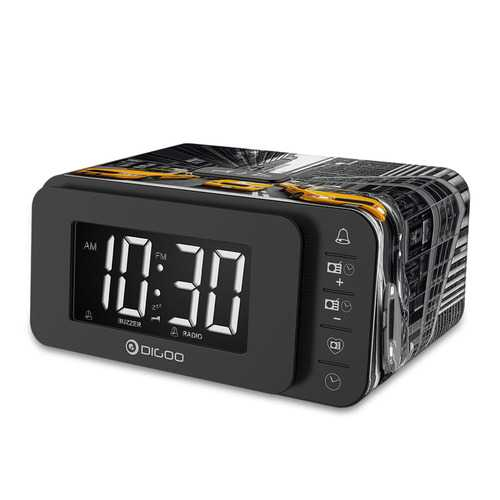 Digoo DG-FR8888 Multi-function Smart Touch Botton Digital Alarm Clock with FM Radio Speaker Memory Function Dual Daily Alarms