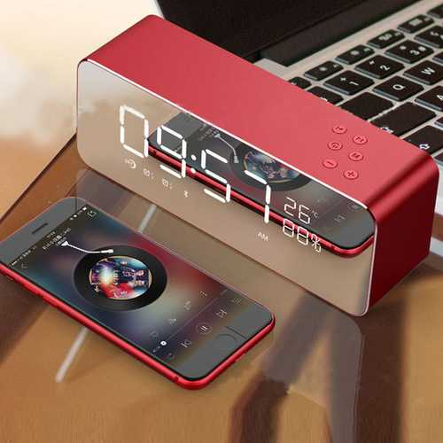 Home Alarm Clock Subwoofer Mobile PhoneWireless Card Portable Computer Mini Bluetooth Speaker