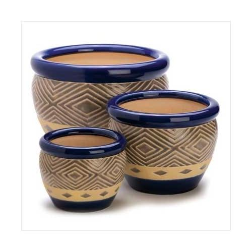 Cobalt Planters Trio (pack of 1 SET)