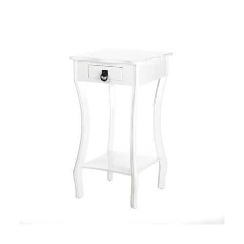 Curvy White Accent Table (pack of 1 EA)