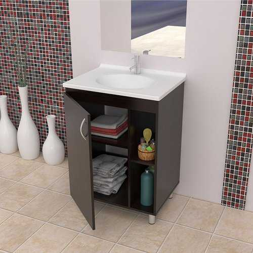 Contemporary Style Wood Vanity
