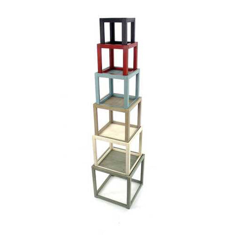 "71"" X 16.5"" X 16.5"" Multi-Color 6 Layer Rustic Tower-Like Wooden Corner Shelf"
