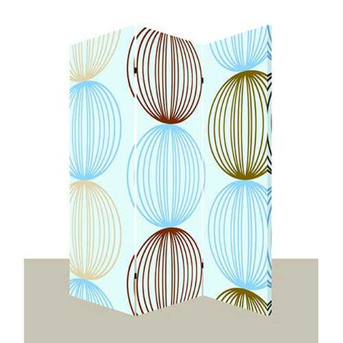 "48"" X 72"" Multi-Color Wood Canvas Sphere Screen"