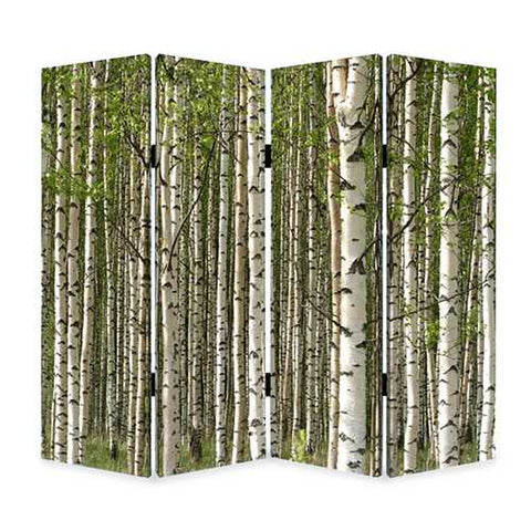 "84"" X 84"" Multi-Color Wood Canvas Prolific Forrest Screen"